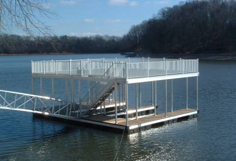 Ronny Double Slip Upper Level Deck Dock 2